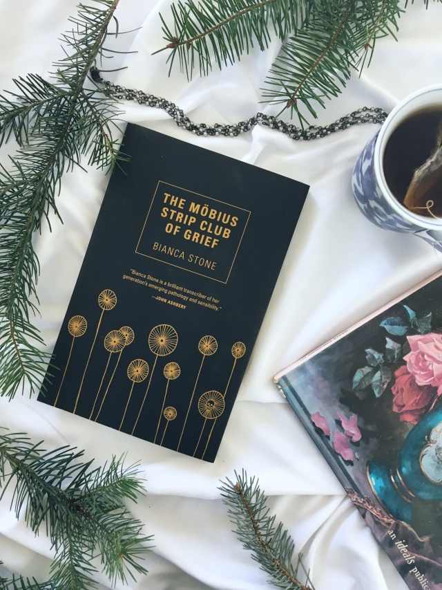 12 days of bookmas, book review, reading, books to read, books to read in 2019, important books, books of instagram, readers of instagram, reading, current favorites, current books, december reads, what I'm reading, poetry, poetry collection, bianca stone, the mobius strip club of grief